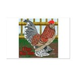 D'Uccle Rooster Mini Poster Print