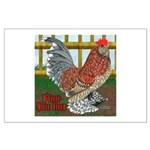 D'Uccle Rooster Large Poster