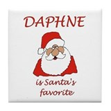Daphne Christmas Tile Coaster
