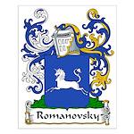 Romanovsky Family Crest Small Poster