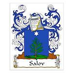 Salov Family Crest Small Poster
