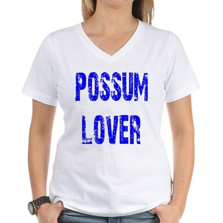 Possum Lover Women's V-Neck T-Shirt