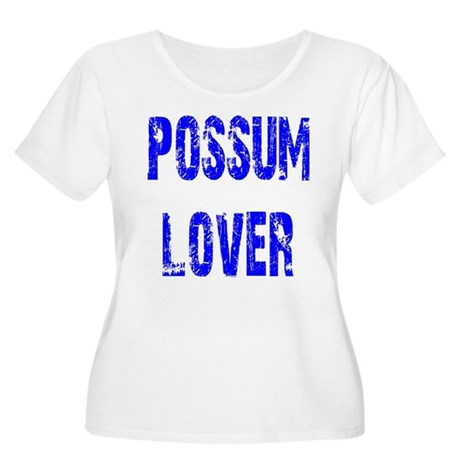 Possum Lover Women's Plus Size Scoop Neck T-Shirt