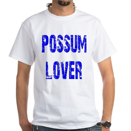 Possum Lover White T-Shirt
