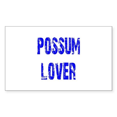 Possum Lover Rectangle Sticker