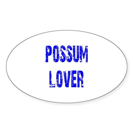 Possum Lover Oval Sticker (10 pk)