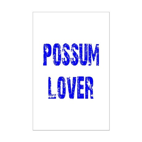 Possum Lover Mini Poster Print