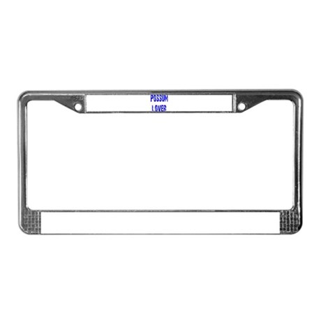 Possum Lover License Plate Frame