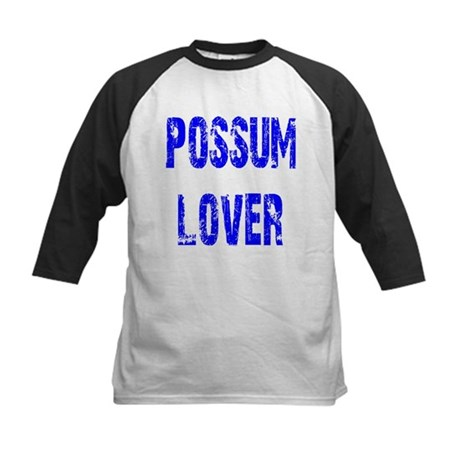Possum Lover Kids Baseball Jersey