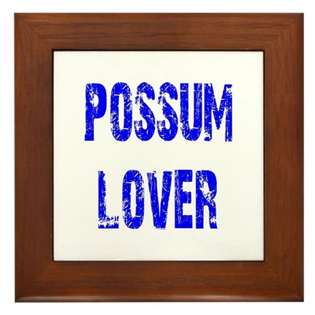 Possum Lover Framed Tile