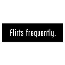 Flirt Black Bumper Sticker (50 pack)