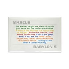 Marcus Quote Combo Rectangle Magnet