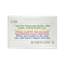 Vir Quote Combo Rectangle Magnet