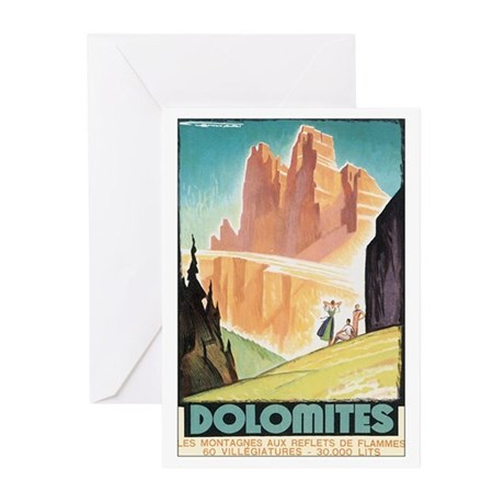 Dolomites Italy Greeting Cards (Pk of 20)