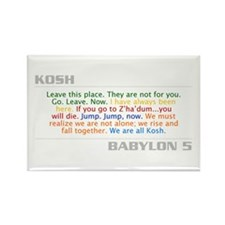 Kosh Quote Combo Rectangle Magnet