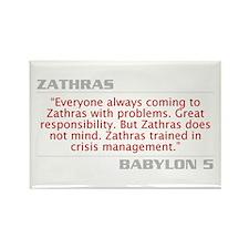 """Zathras """"Crisis Management"""" Rectangle Magnet"""