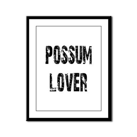 Possum Lover Framed Panel Print