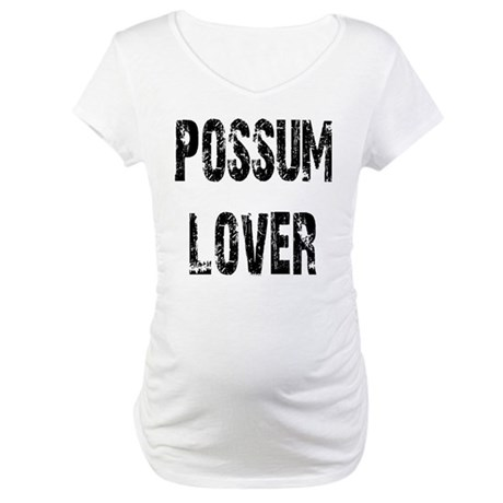 Possum Lover Maternity T-Shirt