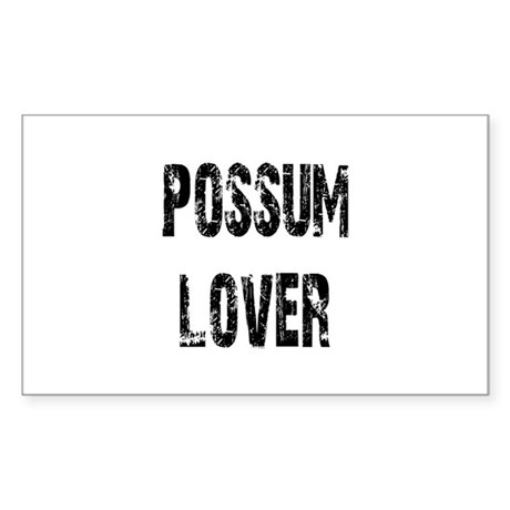 Possum Lover Rectangle Sticker 50 pk)