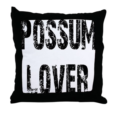 Possum Lover Throw Pillow