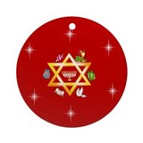 Star of David Chanukkah Keepsake (Round Ornament)
