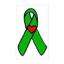 """Heart transplant ribbon..."" Rectangle Decal"