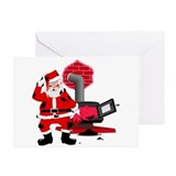 Santa Claus & Chimney Greeting Cards (Pk of 10