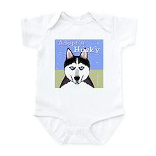 Adopt a Siberian Husky Infant Bodysuit