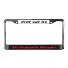No comrade obama License Plate Frame