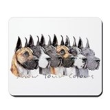 Great Dane Group Show Colors Mousepad