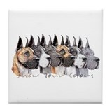 Great Dane Group Show Colors Tile Coaster