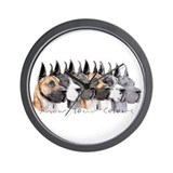 Great Dane Group Show Colors Wall Clock
