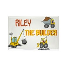 Riley the Builder Rectangle Magnet