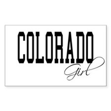 Colorado Girl Rectangle Decal