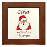 Gina Christmas Framed Tile