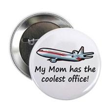 "Mom's Cool Airplane 2.25"" Button (100 pack)"