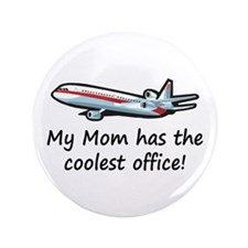 "Mom's Cool Airplane 3.5"" Button (100 pack)"
