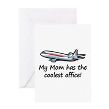 Mom's Cool Airplane Greeting Card