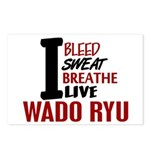 Bleed Sweat Breathe Wado Ryu Postcards (Package of