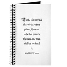 MATTHEW 13:20 Journal