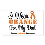 I Wear Orange For My Dad Rectangle Sticker 10 pk)