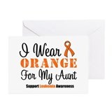I Wear Pink For My Aunt Greeting Cards (Pk of 10)