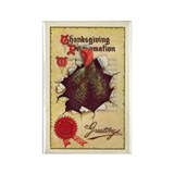 Vintage Thanksgiving Rectangle Magnet