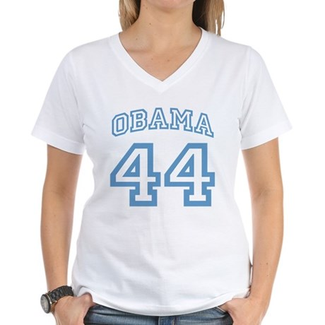 OBAMA 44 Women's V-Neck T-Shirt