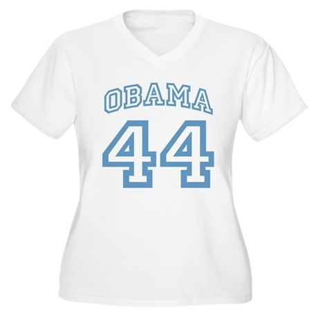OBAMA 44 Women's Plus Size V-Neck T-Shirt