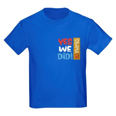 Yes We Did OBAMA Kids Dark T-Shirt