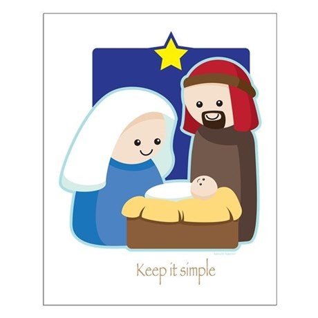 Nativity Small Poster