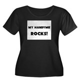 MY Handyme ROCKS! Women's Plus Size Scoop Neck Dar