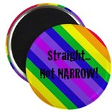 """Straight Not Narrow"" 2.25"" Magnet"