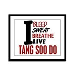 Bleed Sweat Breathe Tang Soo Do Framed Panel Print